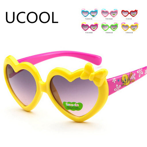 UCOOL High Quality Cat Eye Heart-shaped Sunglasses Baby Glasses Goggles Boys Gilrs Women Sunglass Oculos De Sol Feminino - KiddyLanes