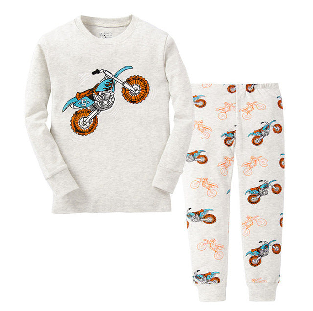 New Children Pajamas Set Kids Baby Girl Boys Cartoon Casual Pijamas Kids long sleeve Pyjamas Sleepwear Nightgown - KiddyLanes