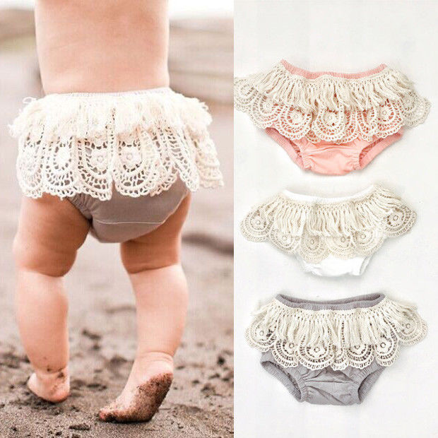 New Baby Girl Toddler Ruffle Frilly Pants Nappy Cover - KiddyLanes