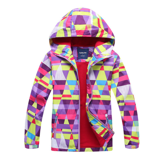 Autumn Winter Girl Polar Fleece Jacket Kid Girls Coats Sport Casual Children Jackets Double-deck Waterproof Jackets - KiddyLanes