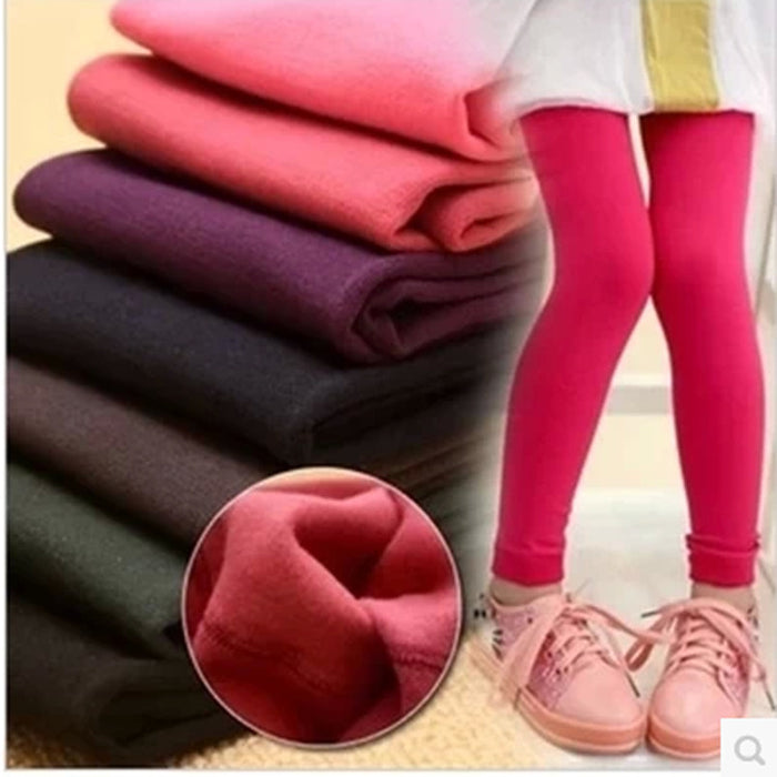 Hot & New winter children's fleece leggings girls pants with velet Leggings girls trousers kids pants - KiddyLanes