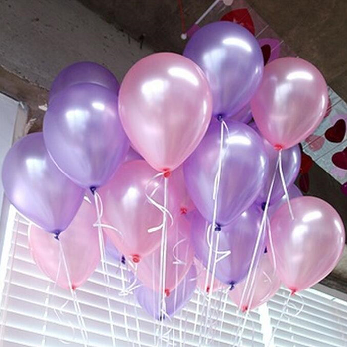 50pcs/lot Purple 10inch 21 colors Latex Helium Balloons Inflatable Wedding Balloons Children Birthday Party Decoration Air Balls - KiddyLanes