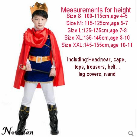 Winter Warm Cosplay Vampire Perform Tops+Pants+Cloak Outfit Set Baby Boys Halloween Cotton Costumes