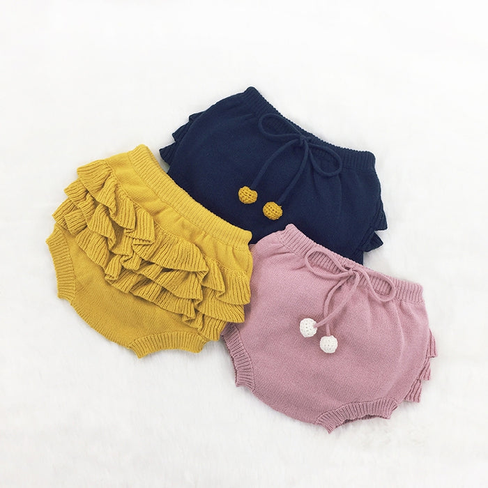 AUTUMN winter BABY GIRL CLOTHES GIRLS SOLID COLOR COTTON SHORTS GIRLS CLOTHING SHORTS FOR GIRLS KIDS CLOTHING VESTIDOS bebe - KiddyLanes