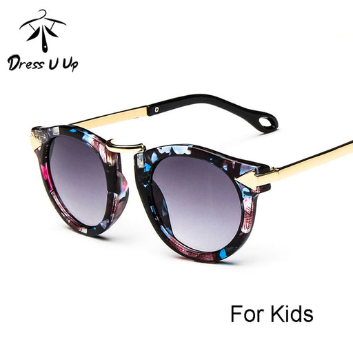 DRESSUUP Baby Boys Girls Kids Sunglasses Vintage Round Sun Glasses Children Arrow Glass 100%UV Protection Oculos De Sol Gafas - KiddyLanes