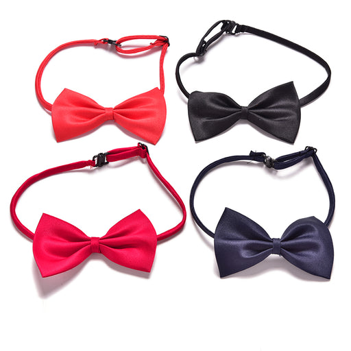 Children Adjustable Accessories Cute Kids Boys Bow Tie Solid Color Bowknot For Wedding Lovely Tie Children 1pc - KiddyLanes