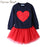 Humor Bear NEW Autumn Baby Girl Clothes Girls Clothing Sets Love Long Sleeve + Skirts Casual 2PCS Girls Suits Kids Clothing Sets - KiddyLanes