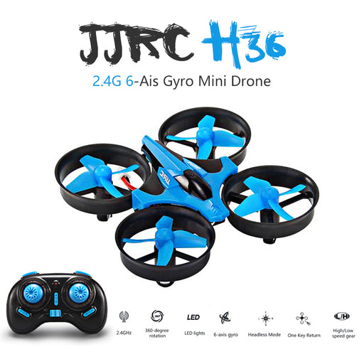 Newest JJRC H36 Mini Drone 6 Axis RC Micro Quadcopters With Headless Mode One Key Return Helicopter Vs H8 Dron Best Toys For Kid - KiddyLanes