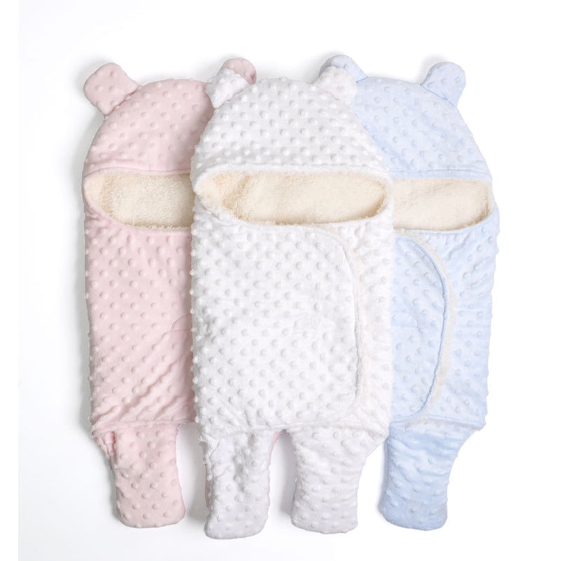 Baby Swaddle Blanket Thick Warm Fleece Envelopes For Newborns Infant