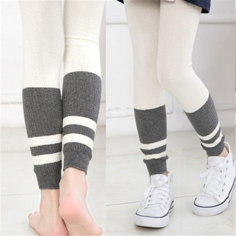 New Fashion Baby Leggings Spring Autumn Kids Girls Leggings Children Trousers Baby Clothes Knitting Stitching - KiddyLanes