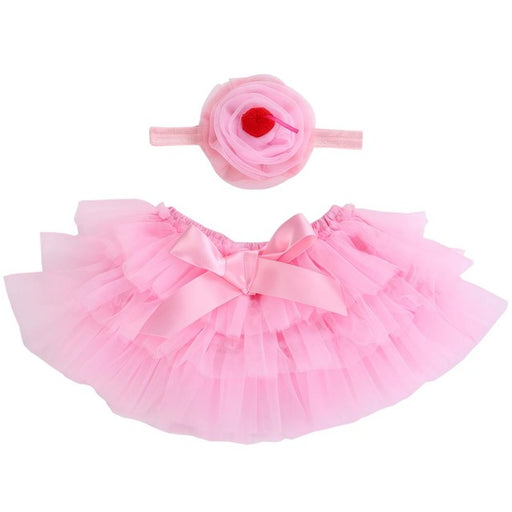 2017 Ruffle Tutu Skirt Baby Girl Set Ballet Newborn Baby Skirt With Headband Infant Princess Party Baby Clothes For Girls Cheap - KiddyLanes