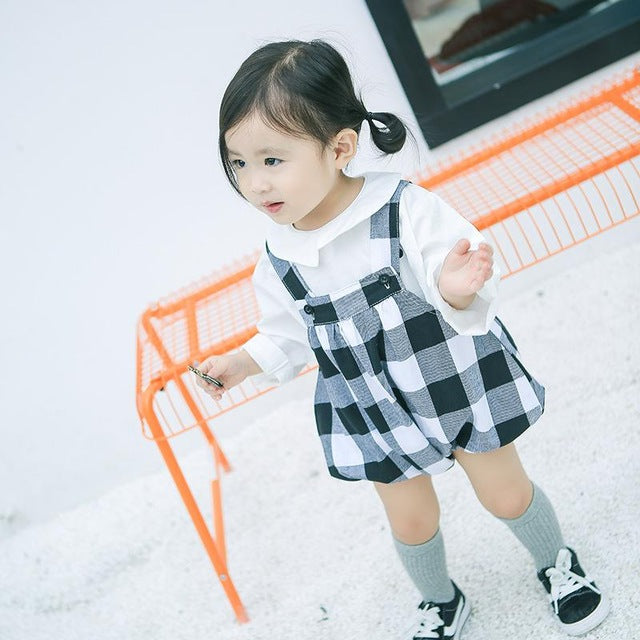 Newborn Suspenders /Infant Baby Girl Shorts Baby Striped Bottoms Trousers - KiddyLanes