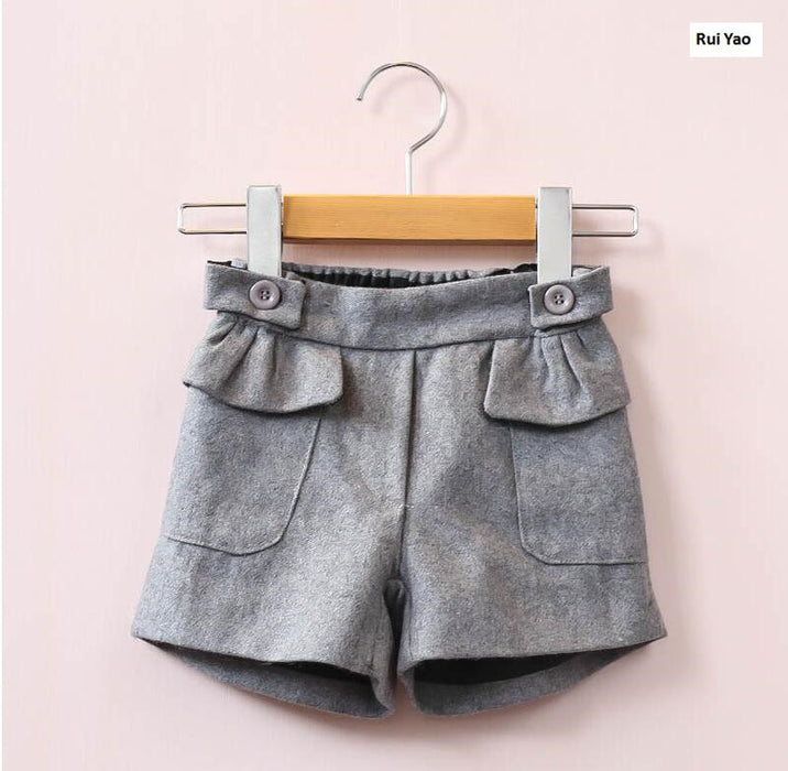 New Spring Fashion Baby Girls Shorts Solid Ruffles Winter Boots Pants  Girl Pants Children Clothes Girls Clothes - KiddyLanes
