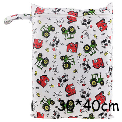 1Pc Baby Cloth Diaper Wet Dry Bag Pouch For Nursing Pads Menstrual Pads Stroller Mini Tote Waterproof Reusable Cloth Diaper Bag - KiddyLanes