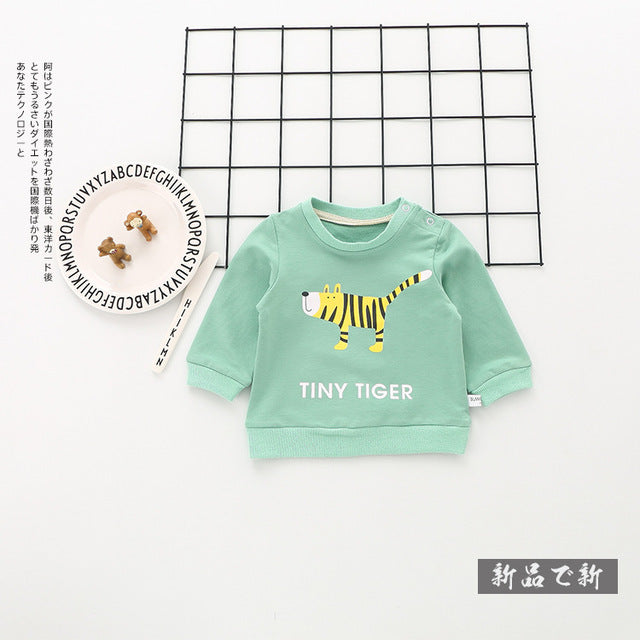 Warm O-neck Cotton Shirt Children's Clothes T-shirt - KiddyLanes