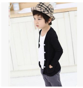 Autumn Spring cotton candy-colored cardigan boys girls coat children outwear kids sweater - KiddyLanes