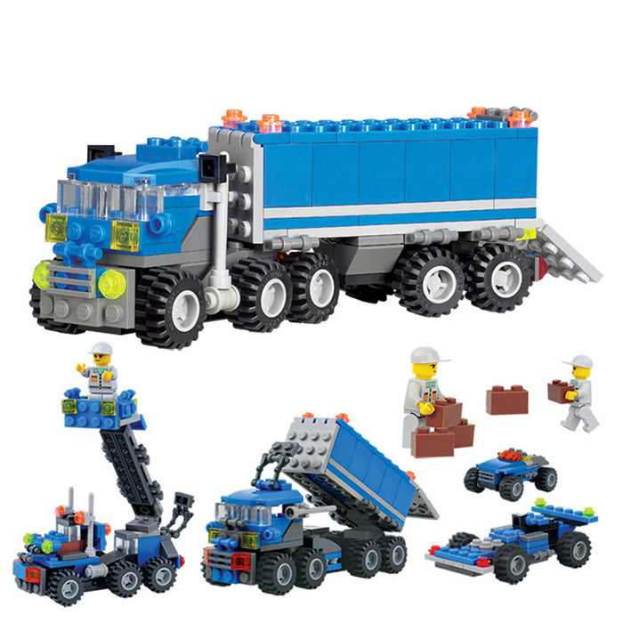 163 Pieces Child Educational Toys Dumper Truck DIY Toys Building Block Sets Intelligent Development Toys Children Birthday Gift - KiddyLanes