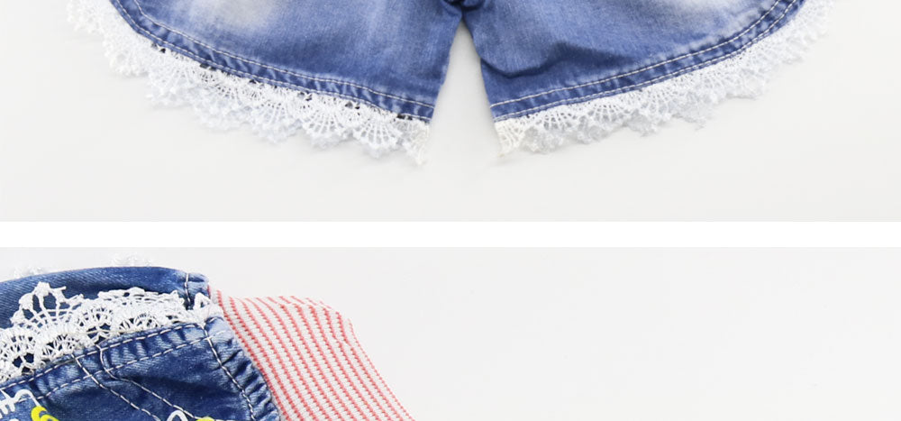Girls baby and kid girl jeans short pants girls shorts summer kids children denim jeans shorts trousers - KiddyLanes