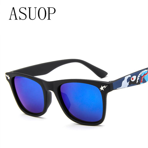 ASUOP2017 Fashion Kids Sunglasses Children Sun Glasses Boys Girls High Quality UV400 Sun Shade Eyeglasses Sunglass - KiddyLanes