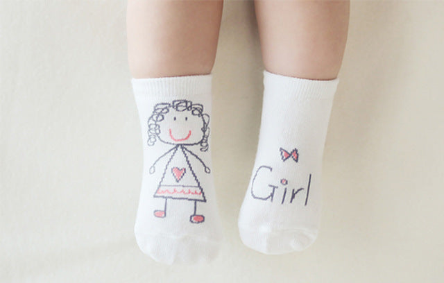 New Arrival Baby Socks Newborn Cartoon Socks Baby Cotton Socks Non-slip High Quality Socks - KiddyLanes