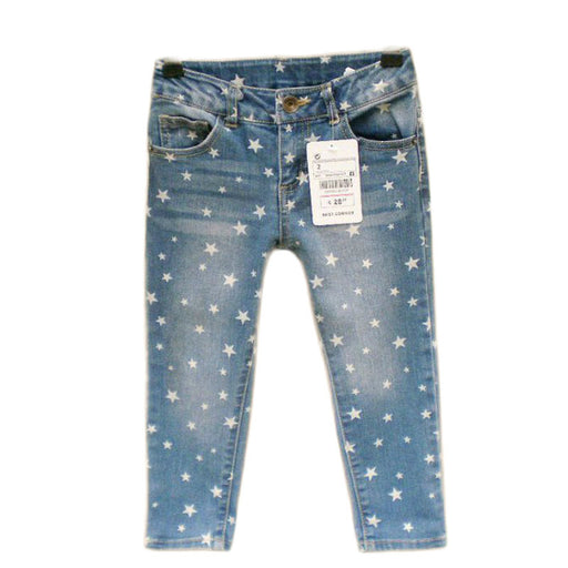 Hot Girls Jeans Butterfly Print Soft Denim Cotton Pants For Girl Trousers Children Clothing Infant Autumn Pant Girls Jeans - KiddyLanes