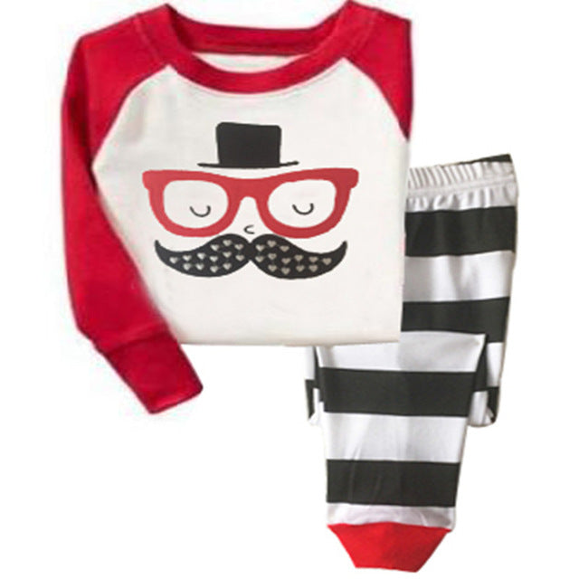 Baby kids Pajamas Sets Girls sleepwear Boys cotton Long Sleeve nightwear Sets children Pyjamas Fall Pajamas - KiddyLanes