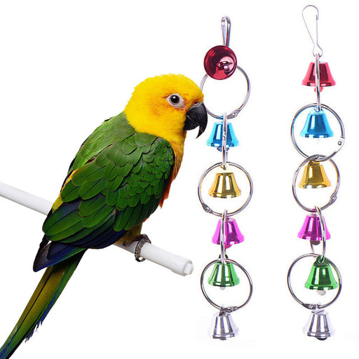 Bird Toys Pet Bird Ring Bell Parrot Toys Hanging Squirrel Hamster Parakeet Birdcage Parrot Cage Toys For Parrots Birds Supplies - KiddyLanes