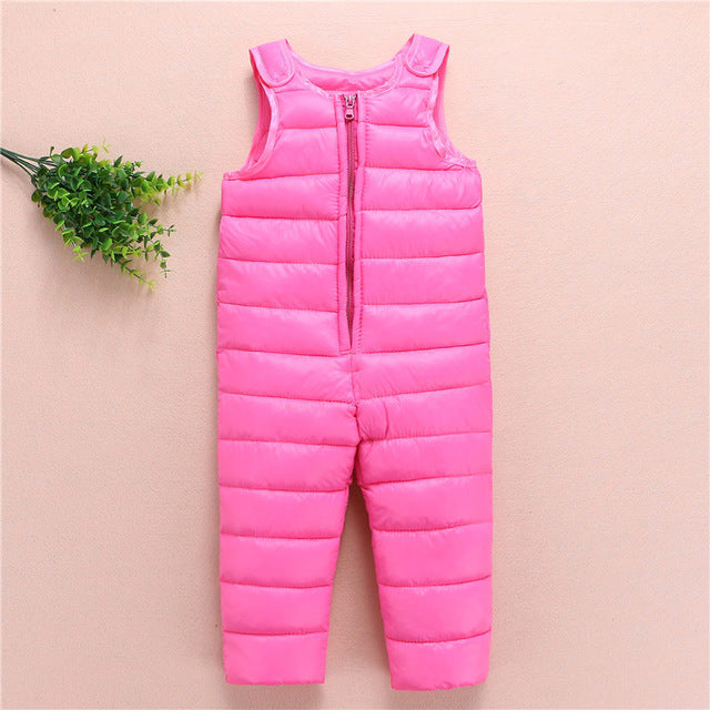 Children's Winter Jumpsuit Overalls Rompers Kids Winter Baby Snowsuit Boys Girls Bib Pants Toddler Thick Warm Bebe Clothes - KiddyLanes