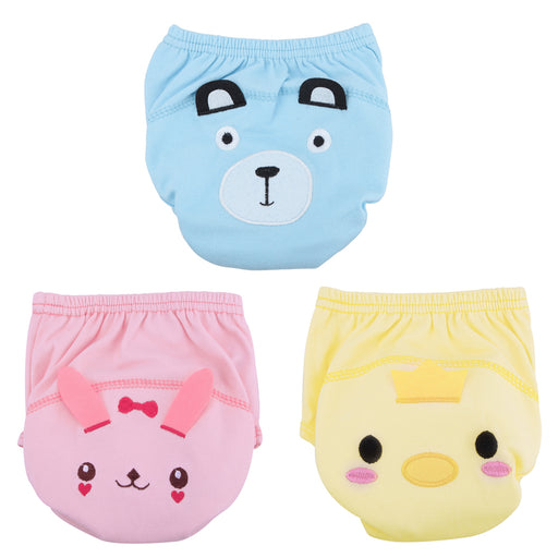 Cartoon Baby Training Underpants Briefs Cute Washable Reusable Baby Diapers Infants Nappies Lovely Soft Cotton Underpants - KiddyLanes