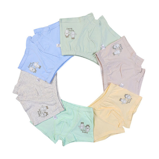 6 Pcs/lot Boys Boxer Children Underwear Male Cotton Baby Underwear Children Underpants Briefs for Boys Child's Underwear 2-7Y - KiddyLanes