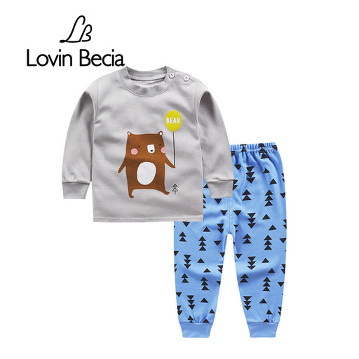 LovinBecia Sports suit boy girl autumn childrens sweatshirts clothing toddler sportswear Underwear Long-sleeved T-shirt Trousers - KiddyLanes