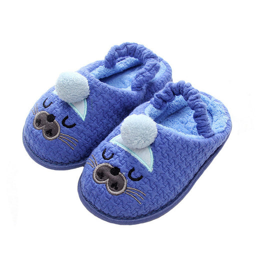 Kids Slippers Children Home Slippers Girls Cotton Cartoon Winter Boys Slipper Indoor House Bedroom Baby Soft Flats Velvet Shoes - KiddyLanes