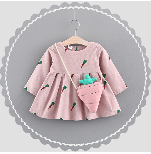 Baby Girls Princess Dresses Children Dress Lovely Kids Clothing Girls Dress Fall Long Sleeve - KiddyLanes