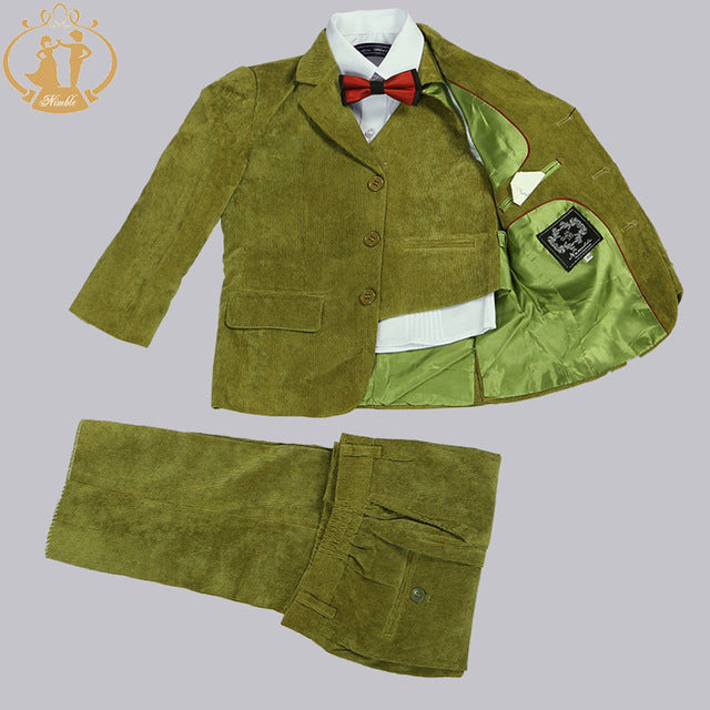 Nimble boys suits for weddings Kids Blazer Green boys prom suits child