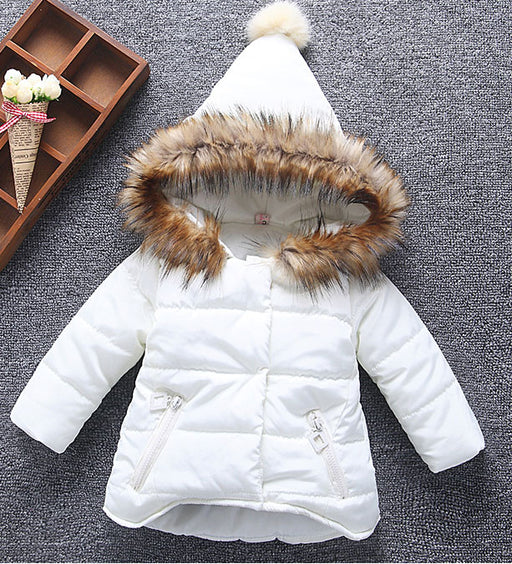 New Girls Winter Jackets Kids Hooded Coats Thick 1-6Y Children's Warm Parkas Baby Brand clothes High quality Outdoor - KiddyLanes