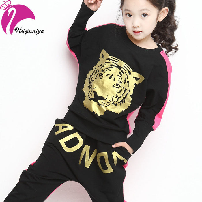 Girl Clothing Set Spring Sport Suit For Girl Autumn Cotton Character two-piece Girls Suit Set Toddler Girl Children Clothing Hot - KiddyLanes