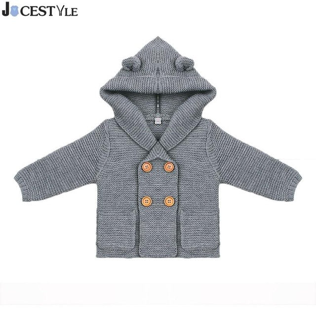 Christmas Baby Sweater Newborn Baby Boy Knitting Cardigan Winter Toddler Boys Girls Sweaters Tops Kids Jacket Hooded Coat - KiddyLanes