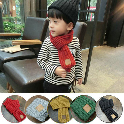Fashion Children Kids Winter Scarf Knitted Collar Neck Warmer  Winter Baby Scarf Girls Neckerchief Neck Bib Scarves for Children - KiddyLanes