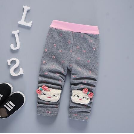 Girls warm pants baby casual winter pants toddler Thicken warm Leggings trousers for girl newborn pants sports - KiddyLanes