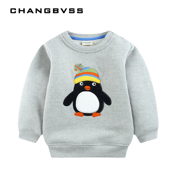 Unisex Cartoon Sweatshirt Children - KiddyLanes