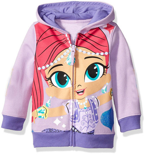 Autumn Baby Jackets Girls Hoodies Cute Printing Outwear Shimmer  Children's Clothing For Girls Sport Outwear - KiddyLanes