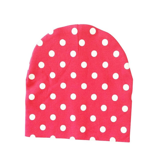 Baby Hat Cotton Printing Caps For Baby Boy Girl Infant Beanie Hat Spring Autumn Winter Children's Hats Caps Star Heart Dot - KiddyLanes