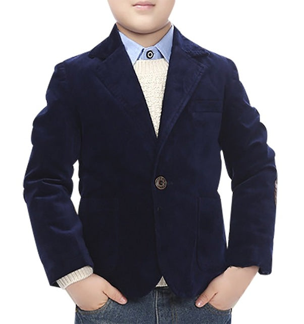 High Quality Child Kid Boy Button Casual Blazer Jacket
