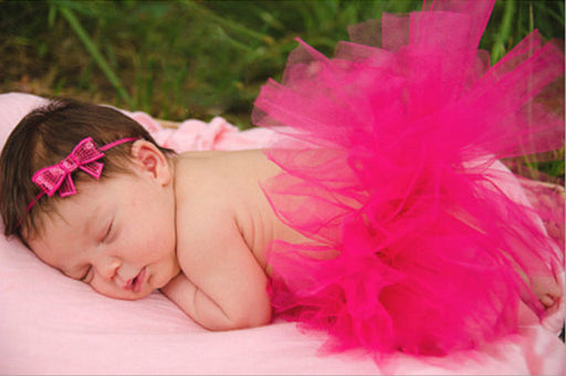 0-24M Newborn Baby Girl Tutu Skirt Headband - KiddyLanes