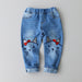 Humor Bear Children Jeans Girls Pants Cartoon Embroidery Kids Clothes Pants Casual Jeans Girls leggings Kids Trousers - KiddyLanes