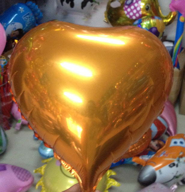 25 or 45CM 5pcs Party Wedding Decoration Star Heart moon shape Foil Helium Balloons Birthday Wedding Anniversary Party Supplies - KiddyLanes