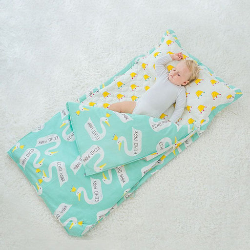 New Baby Cotton Bedding Sets Without Filling Sleeping Bag Children Summer Baby Anti Kick Quilt Baby Quilt Cover + Bed Sheet - KiddyLanes