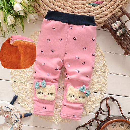 Baby pants thick winter baby child trousers pants - KiddyLanes