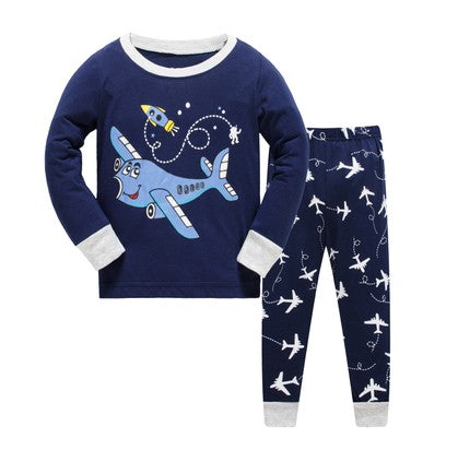 Baby Boy Pajamas Set Cartoon kids Sleepwear Girls cute Home pajamas Children Pajamas Set Girls cotton pyjamas size 2-7Y - KiddyLanes