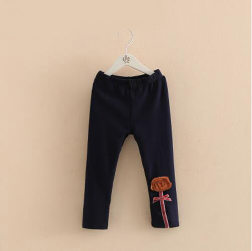 High Quality autumn new 3D flower design Children Pants cotton Girls leggings 2t-7 toddler baby clothes - KiddyLanes